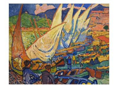 Fishing Boats, Collioure Prints by Andre Derain