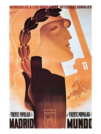 Homage to the International Brigades Prints by  Espert