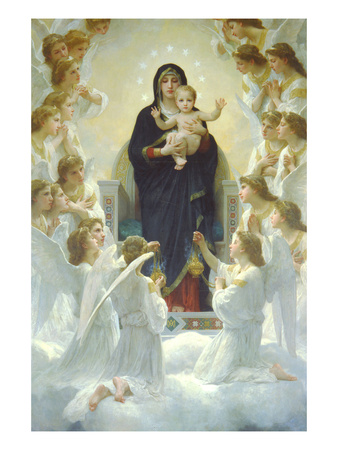 Queen of Angels Art by William Adolphe Bouguereau