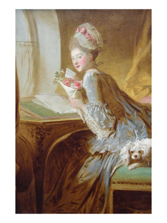 The Love Letter Prints by Jean-Honoré Fragonard
