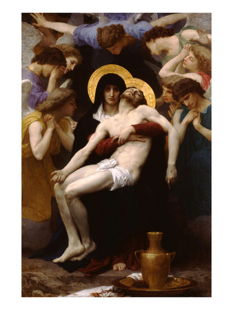 Pieta Prints by William Adolphe Bouguereau