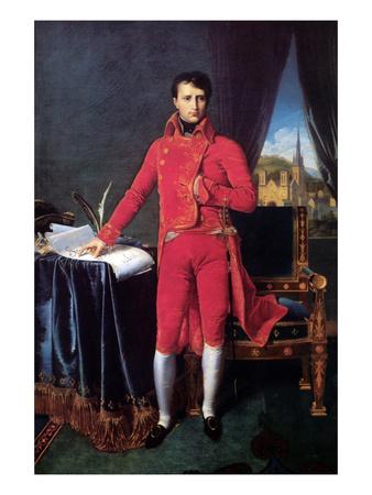 Bonaparte as First Consul Prints by Jean-Auguste-Dominique Ingres