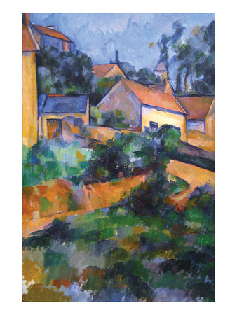 Turning Road at Montgeroult Prints by Paul Cézanne