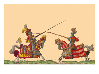 Lances at the Thrust Between Knights Prints by Hector Mair Paulus