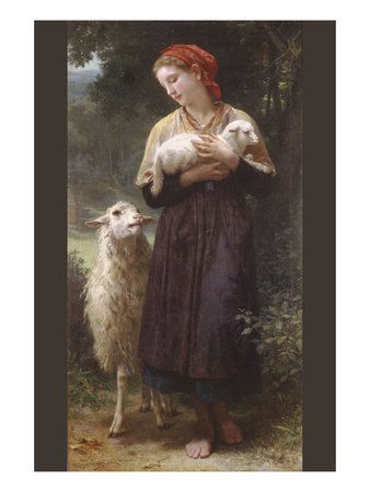The Newborn Lamb Art by William Adolphe Bouguereau