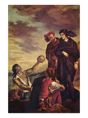 Hamlet and Horatio in a Graveyard Art by Eugene Delacroix
