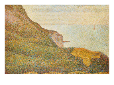 Cranes at the Port of Bessin Art by Georges Seurat