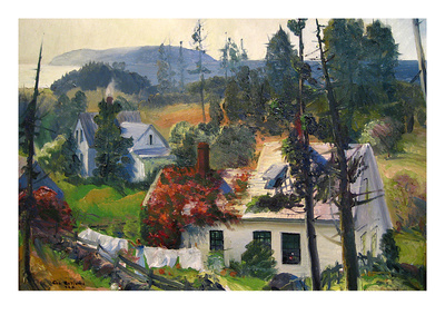 The Red Vine, Mantinicus Island, Maine Poster by George Bellows