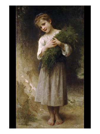 Return from the Fields Print by William Adolphe Bouguereau
