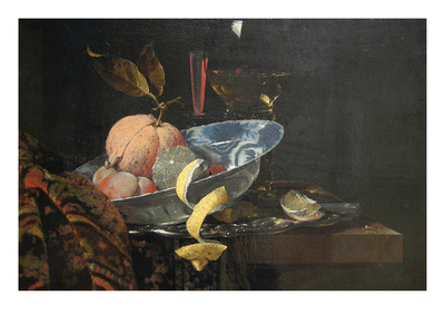 Still Life with Fruit, Glassware, and a Wan-Li Bowl, 1659 Poster by Willem Kaif