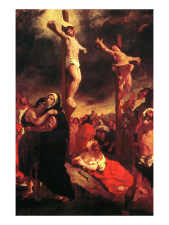 Christ at the Cross Prints by Eugene Delacroix