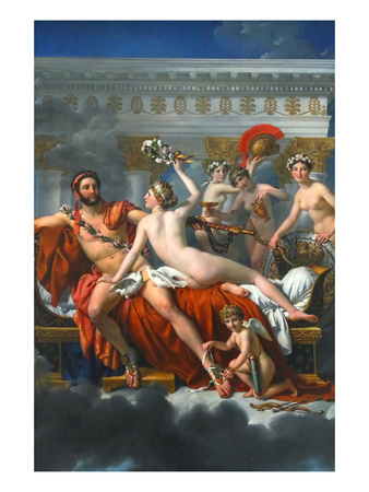 Mars Disarmed by Venus Prints by Jacques-Louis David