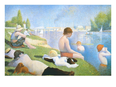 Bathing at Asnieres Prints by Georges Seurat