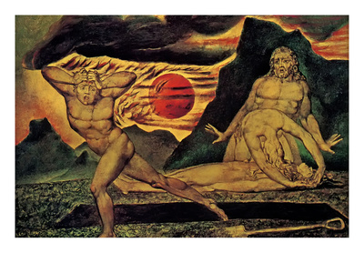 Cain Fleeing Posters by William Blake