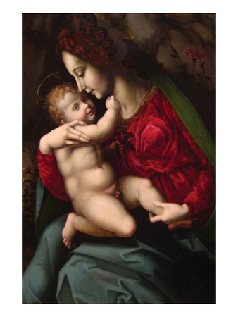 Madonna and Child Art by Francesco Ubertini Bacchiacca