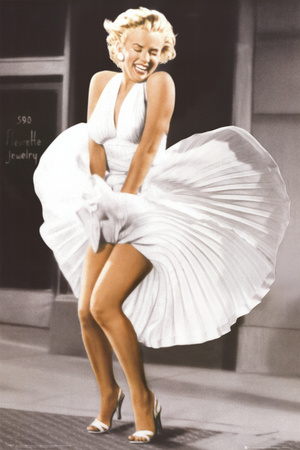 Marilyn Monroe - Seven Year Itch, White Dress, Color アートポスター