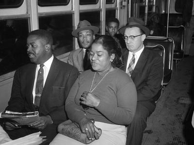 MLK Abernathy Ride Bus 1956 Photographic Print by Harold Valentine