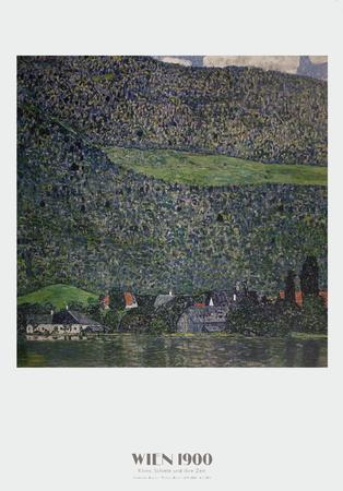 Litzlberg am Attersee Prints by Gustav Klimt