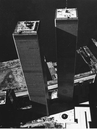 World Trade Center 1973 Fotografie-Druck von David Pickoff