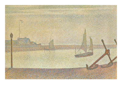 The Channel at Gravelines in the Evening Posters by Georges Seurat