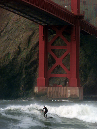San Francisco Bay Surfer Photographic Print by Dan Krauss