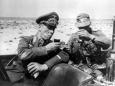WWII Gen. Rommel Desert Photographic Print