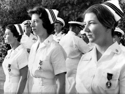 Vietnam War U.S. Nurse Medal Photographic Print by  Associated Press
