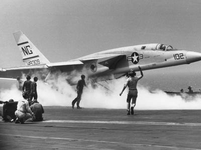 Vietnam War US Carrrier Aviation Photographic Print by  Associated Press