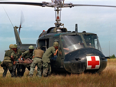 Vietnam War U.S. Helicopter Photographic Print by  Associated Press