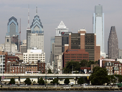 Philly Skyline Debate Photographic Print by Tom Mihalek