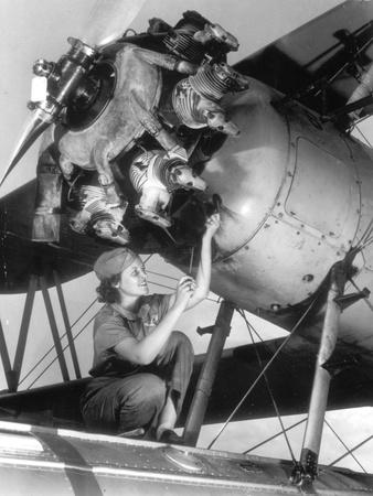 Female Mechanic Farley Photographic Print