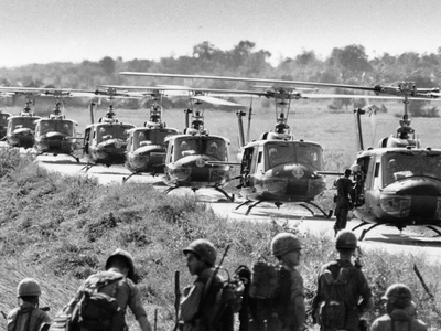 Vietnam War US Helicopters Photographic Print by  Associated Press