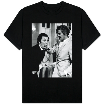 Tony Curtis and Roger Moore Ham It up on the Set of the Television Series the Persuaders Shirts