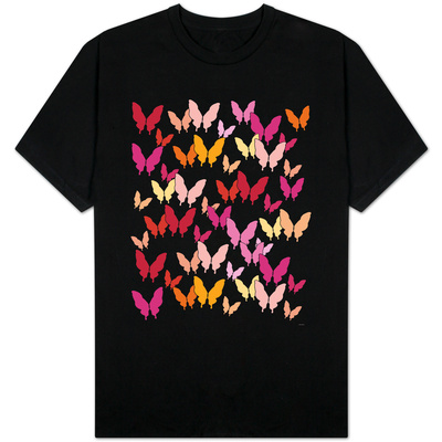 Warm Butterfly Pattern T-Shirt