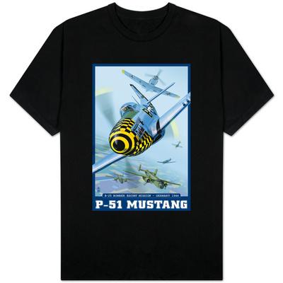 B-25 Bomber Escort Mission - P-51 Mustang, c.2008 T-Shirt