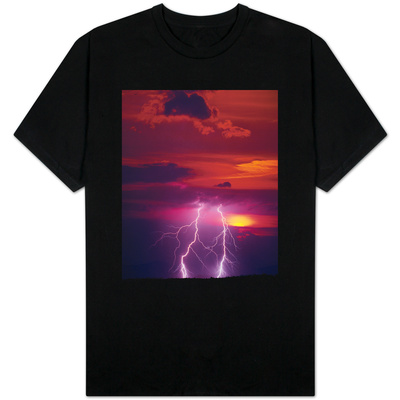 Lightning Storm at Sunset T-shirts