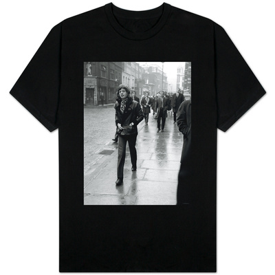 Rolling Stones' Mick Jagger Leaving the Court of Appeal After Listening to Evidence on Brian Jones T-shirts