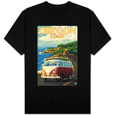 Oregon Coast, Cruising the Coast, VW Bug Van T-Shirts