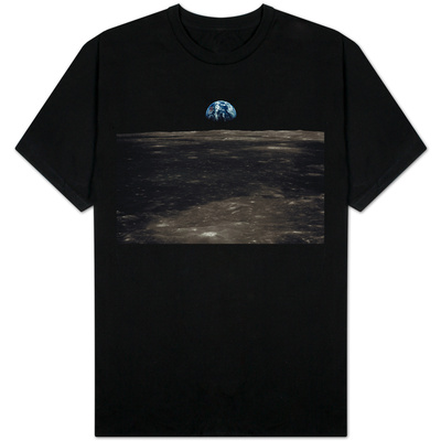 Earth Rising Above the Moon T-shirts