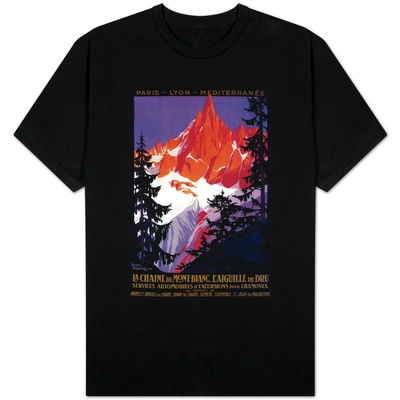 La Chaine De Mont-Blanc Vintage Poster - Europe T-shirts
