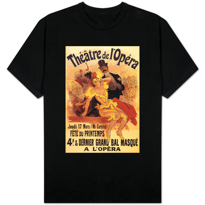 Paris, France - 4th Masked Ball at Theatre de l'Opera Promotional Poster T-shirts