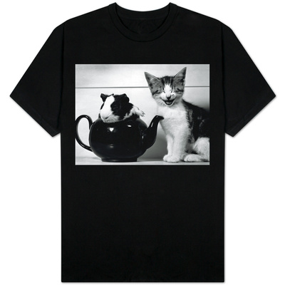 Pinkie the Guinea Pig and Perky the Kitten Tottenahm London, September 1978 Shirts