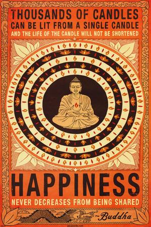 Thousands Of Candles Buddha Motivational Poster