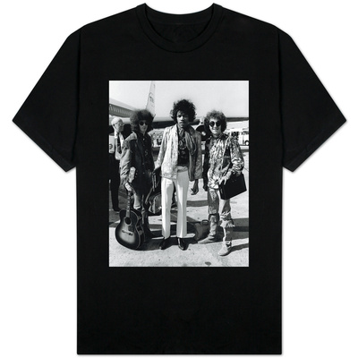 The Jimi Hendrix Experience Arriving at Heathrow Airport, August 1967 T-Shirt