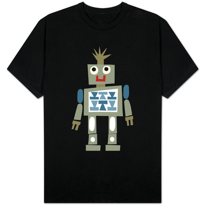 Cute Robot Smiling T-Shirt