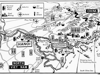 Vietnam War Target Map Photographic Print by  Associated Press