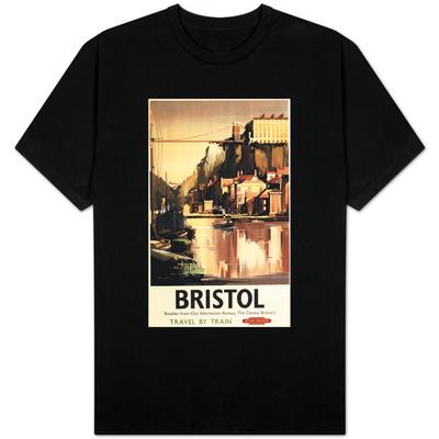 Bristol, England - Clifton Suspension Bridge and Boats British Rail Poster Shirts