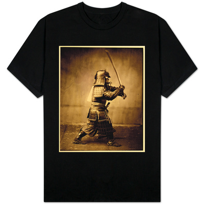 Samurai with Raised Sword, circa 1860 T-shirts