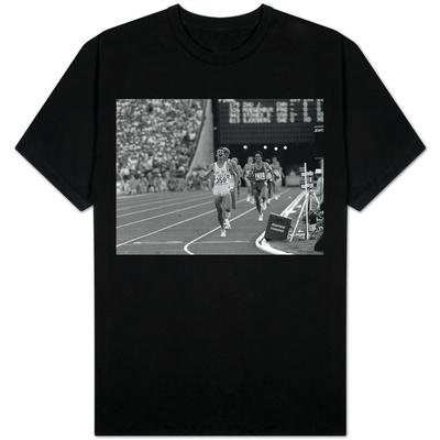 Sebastian Coe Winning 1500 MeterFinal at the Los Angeles Olympics in 1984 T-Shirt