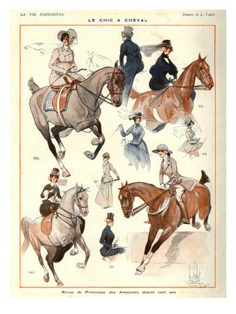 La Vie Parisienne, L Vallet, 1922, France Giclee Print